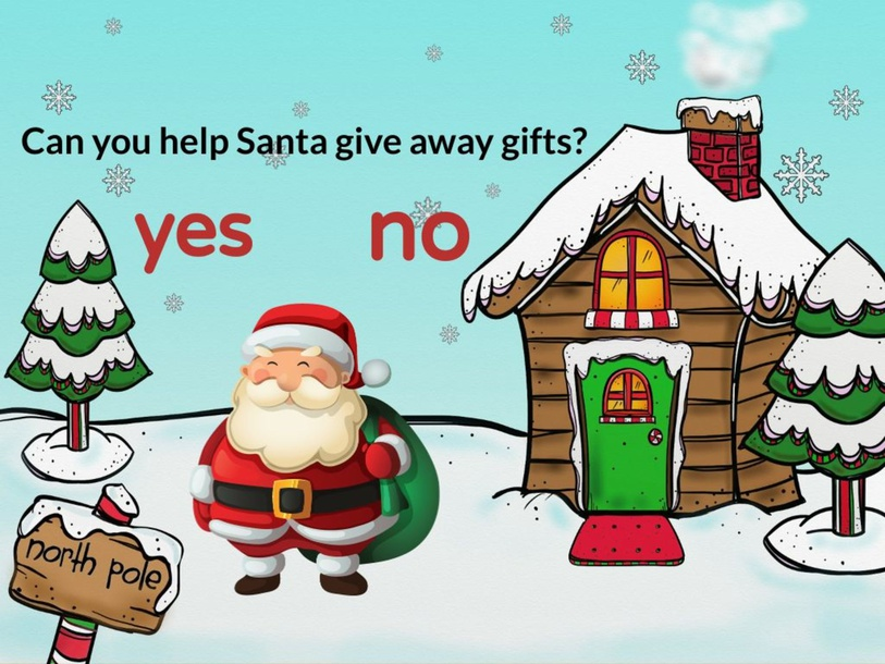 Can you help Santa give away gifts? by TinyTap creator