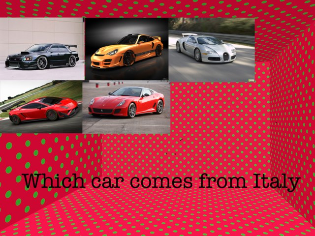 Cars From Around The World by Summer School