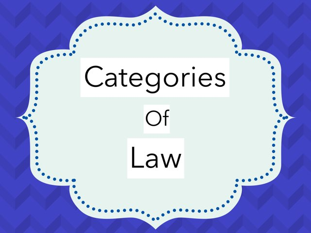 Categories Of Law by Jason Cogley
