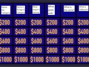 Category Jeopardy by Madonna Nilsen
