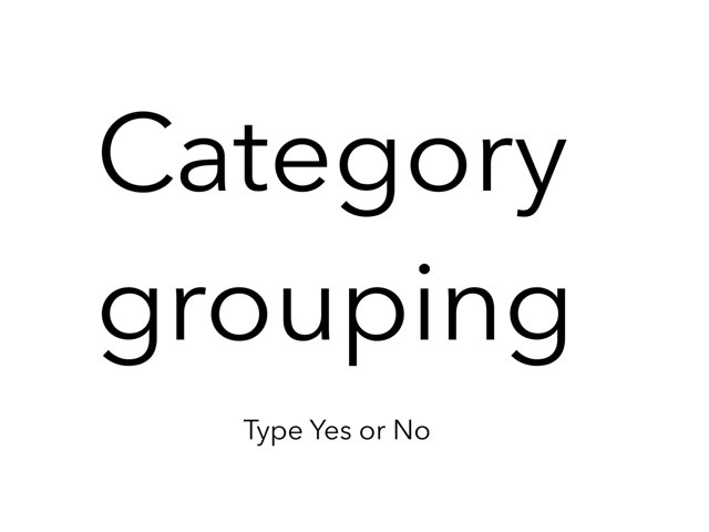 Category Yes/No by Madonna Nilsen