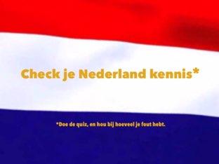 Check je Nederland kennis by Ted van Buuren