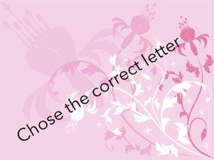 Chose The Correct Letter by Tasneem Alamora