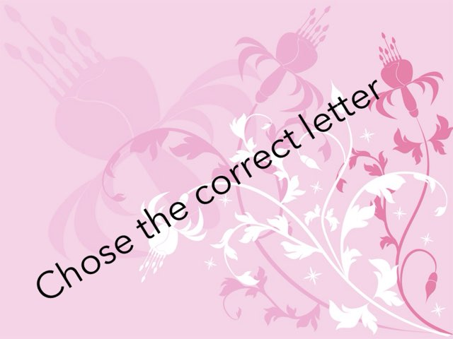Chose The Correct Letter by Tasneem Alamora