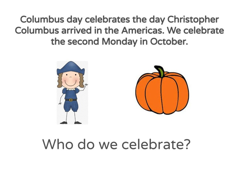 Christopher Columbus Day  by Ms. Jess