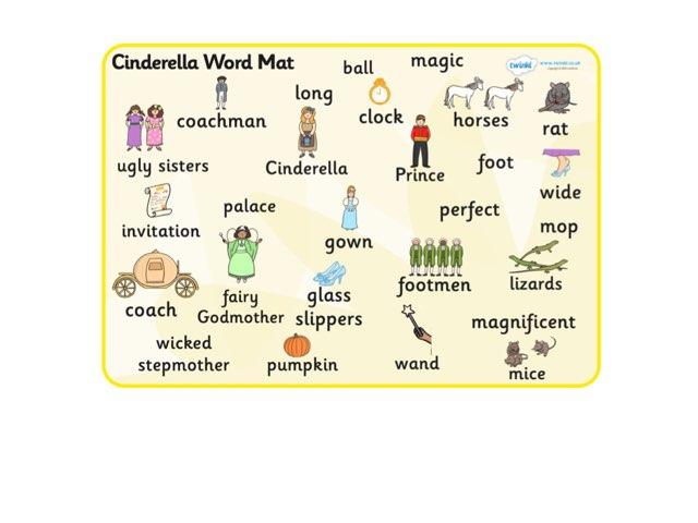Cinderella Word Match by Deborah Fletcher
