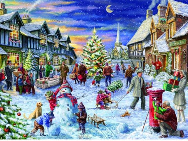 Class 4a Winter Scene by Mr Parkinson