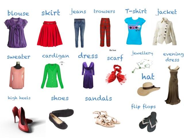 Clothes Vocabulary by Eva Jay