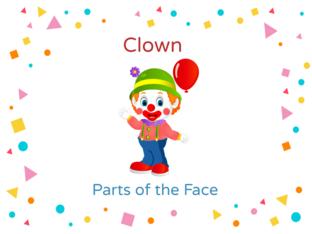 Clown Face Parts by Thais Baumgartner