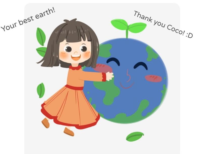 Coco Huging earth by Samantha_BunnyTinyTap TinyTap