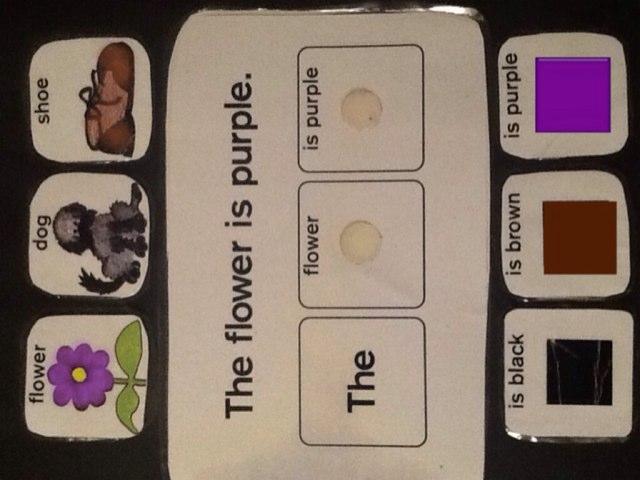 Color Sentences Level 2 by Wendy Hazelwonder