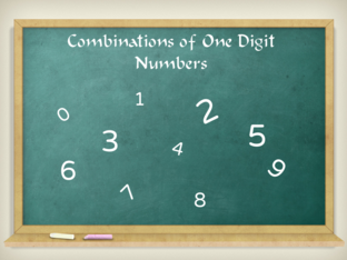 Combinations of One Digit Numbers by Everild Lau Xin Yi