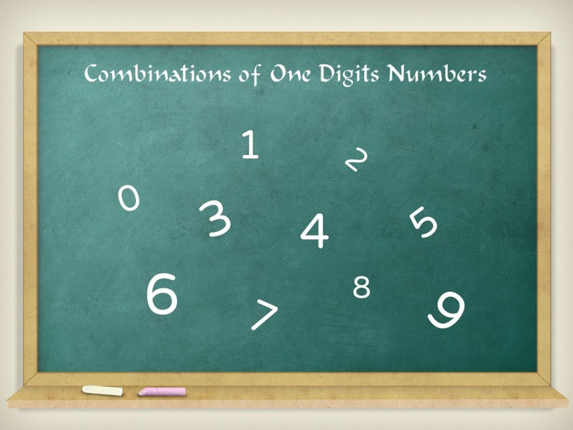Combinations of One Digits Numbers by Everild Lau Xin Yi