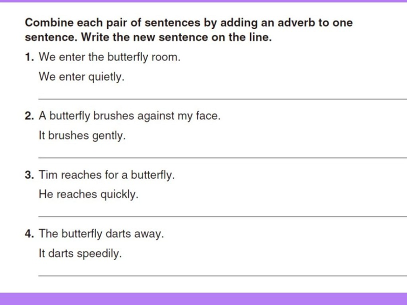 Combining sentences with adverbs by Karla Zapata