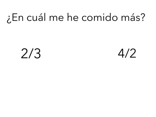 Comparar Fracciones  by Xavi González Ibáñez