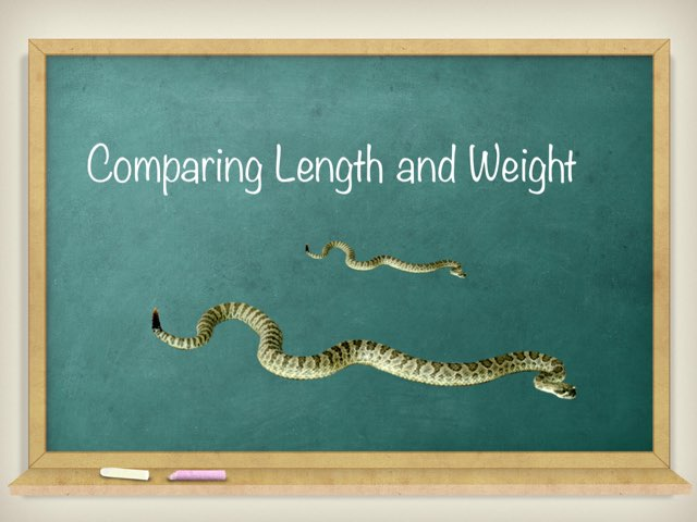 Comparing Length And Weight by Kristen VanVleet