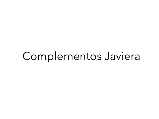 Complementos Javiera by Valentina  Cholakis