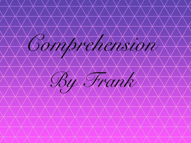 Comprehension by Year Six