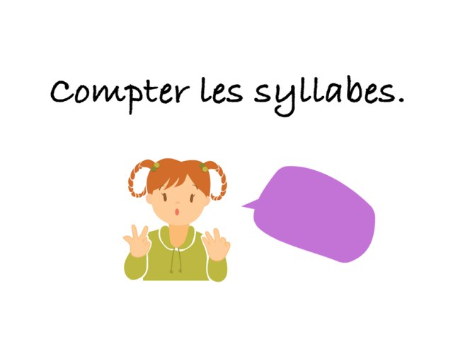 Compter Les Syllabes by Seve Haudebourg