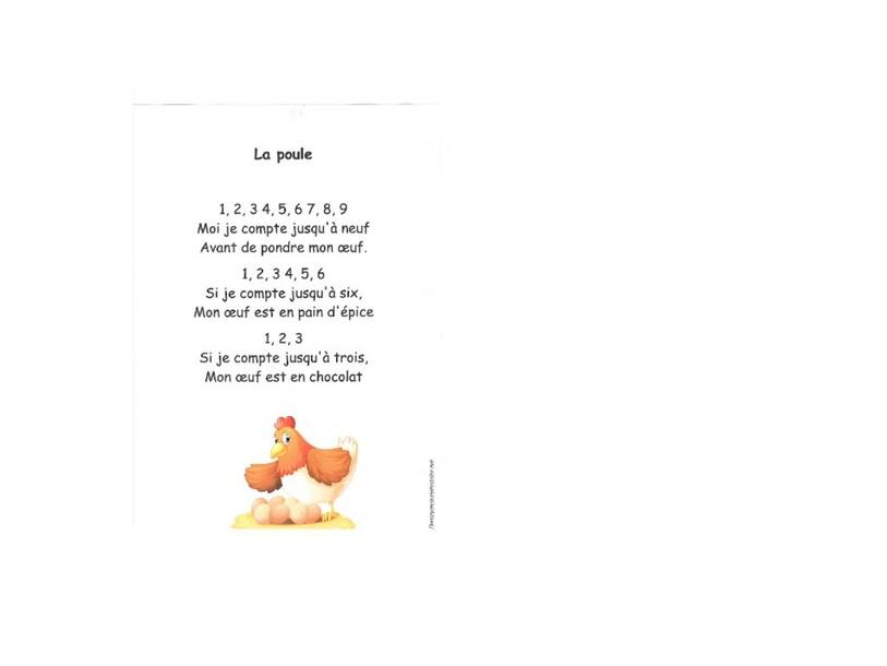 Comptine La Poule (en français) by Marie-Estelle Pequignot Skiba