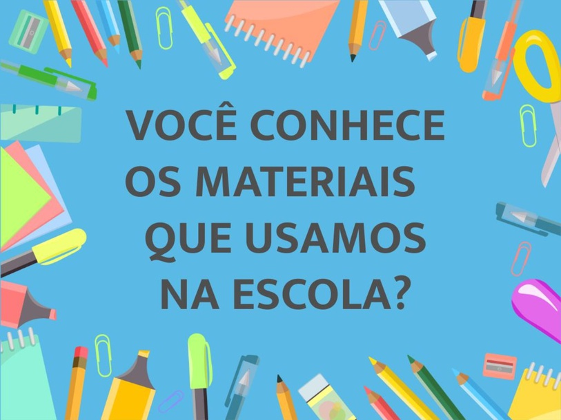 Conhecendo os materiais da escola by Tobrincando Ufrj