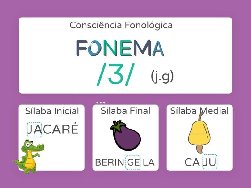 Consciência fonema J by Ana Carolina Povoa