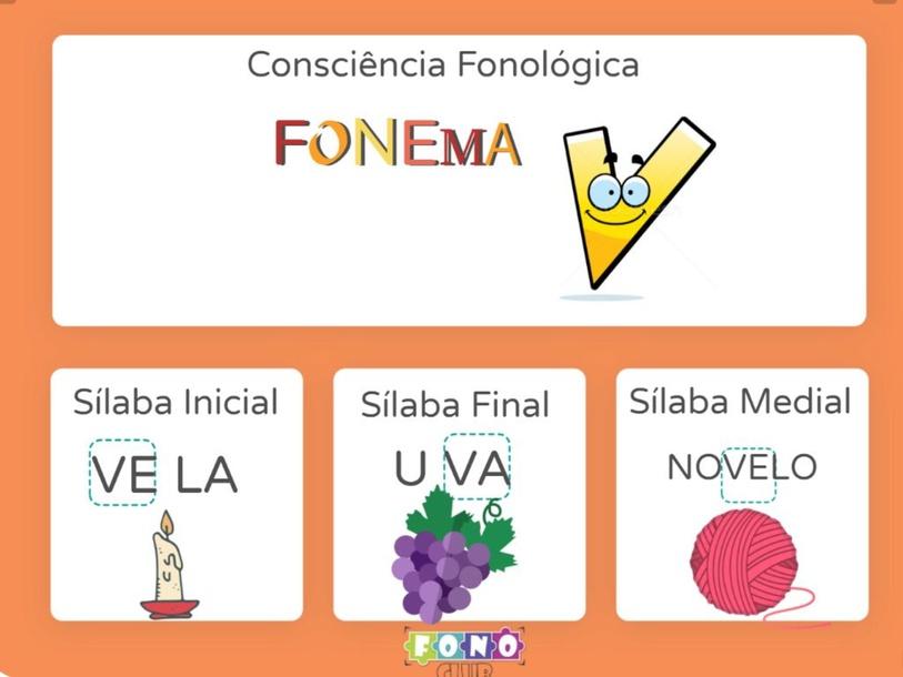 Consciência fonológica fonema V by Ana Carolina Povoa