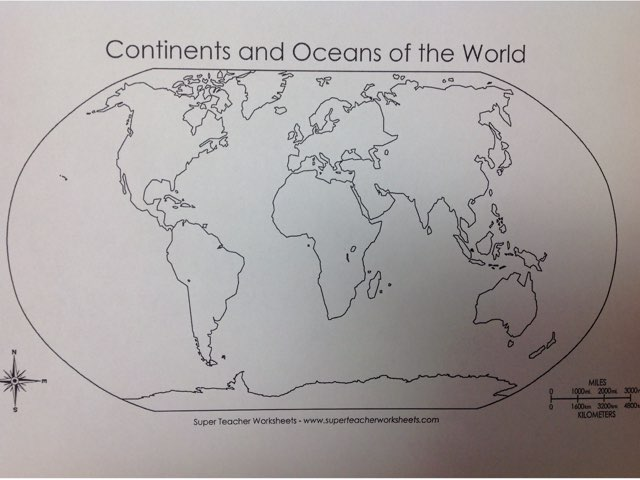 Continents And Oceans by Jeremy Trautlein