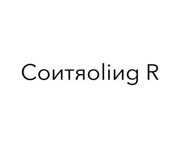 Controling R by umhj hjmbj