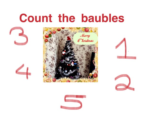 Count The Baubles And Name The Shapes by Katie Bridges