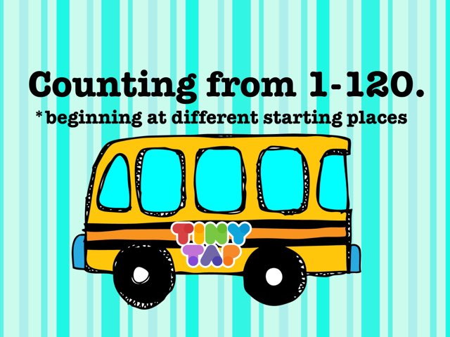 Counting 1-120 by Jennifer