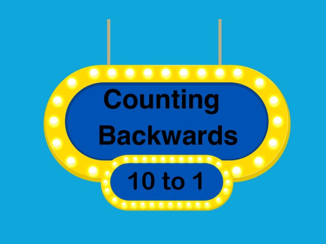 Counting Backwards by Allison McGillivray