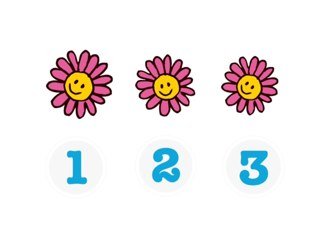 Counting Flowers Up To 5 by Sheryl Bunyard