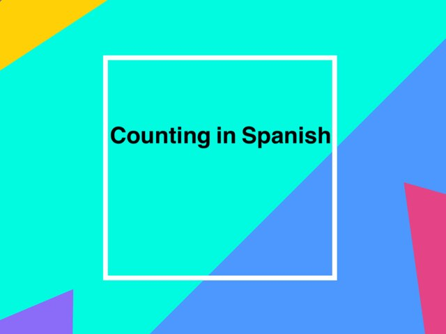 Counting In Spanish by Brooklyn Mulder