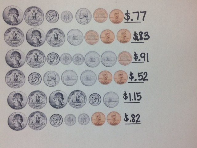Counting coins by Amy Boehman