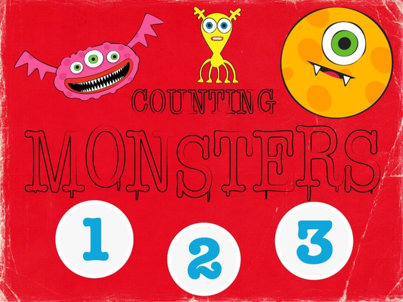 Counting Monsters 1-3 by Karley Bales