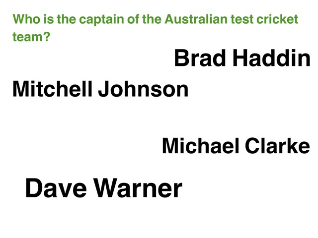 Cricket Trivia by Bec Holden