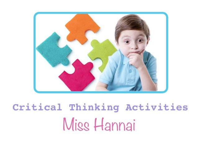 Critical Thinking  by Hannai rashid