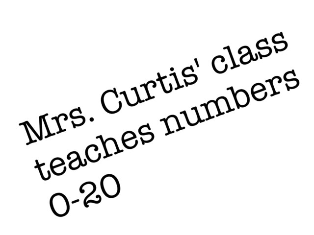 Curtis 1st Grade Numbers by Joe McCright