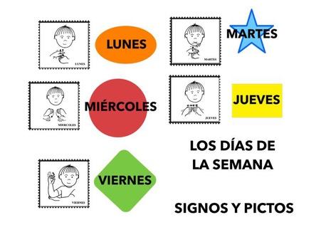Días De La Semana. Signos Y PICTOS by Francisca Sánchez Martínez