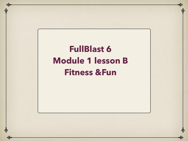 Lesson b Fitness & Fun  by Lama Ali