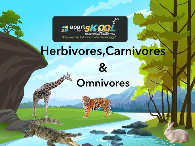 Herbivores,carnivores & Omnivores  by TinyTap creator