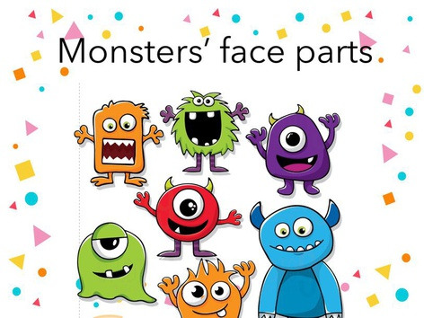 Parts Of The Face (monsters) by Joana Reyes