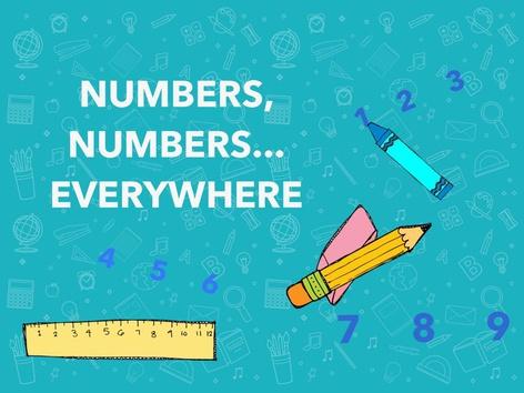 NUMBERS, NUMBERS... EVERYWHERE by Claudia Sawada