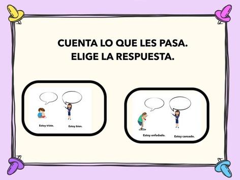 Cuenta Lo Que Les Pasa. Elige La Respuesta by Francisca Sánchez Martínez