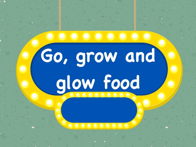 Go, grow and glow food by Siti Fatimah
