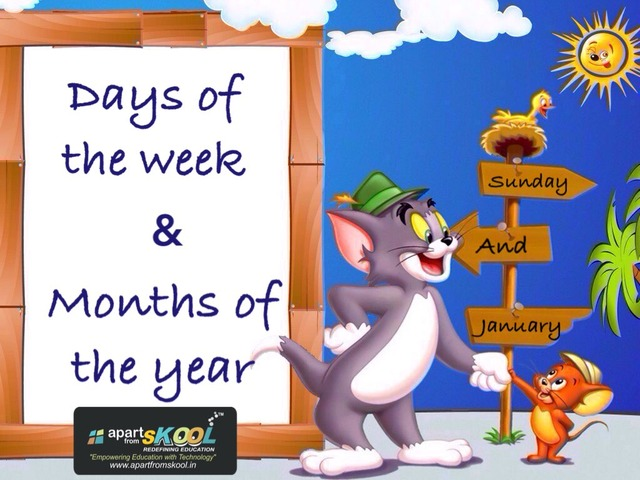 Days Of The Week & Months Of The Year by TinyTap creator
