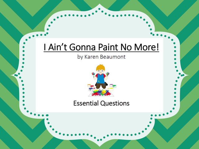 I Ain't Gonna Paint No More EQs by Anna Ray