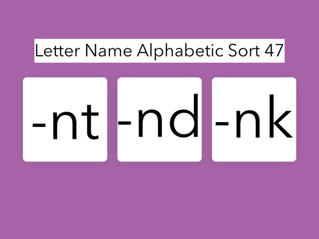 Letter Name Alphabetic Sort 47 by Erin Moody