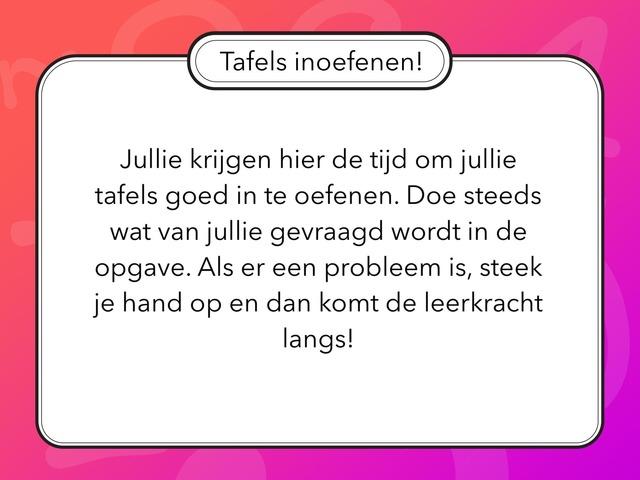 Tafels Inoefenen(1) by Jine Tamsin